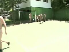 Naked soccer game with hotties