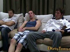Three straight guys go hard