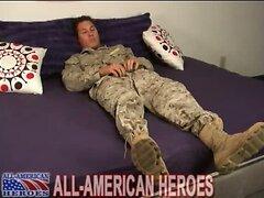 Military uniform masturbation video