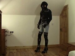 Amazing Latex and Jeans Leather PVC Fetish THBoots