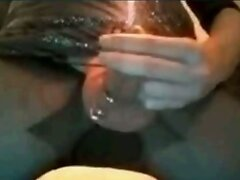 Candle burning down inside  hole - extreme cock torture
