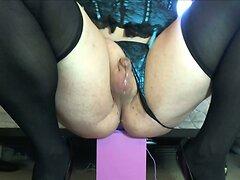 Sharigurl Teal Bustier cumming like a girl riding dildo