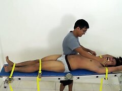 Asian Twink Ronny Bouned and Tickled