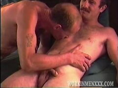 Hairy Hung Mature and Straight Guys Playing Gay