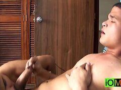 Hot straight Paco and Maximo having a cock party at home