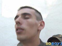 Soldier rides big cock
