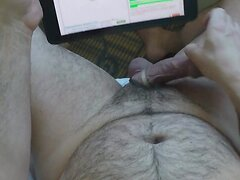 Jerking Big Uncut Foreskin Cock CumShot HD Gopro