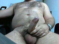 HAIRY BEAR STUD BIG UNCUT CUMSHOT LATINO HUNK
