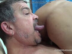 Daddy Bareback Fucks Asian Twink Andrew
