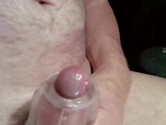 wanking and cum in a Fleshlight sleeve - close up