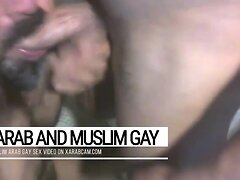 Arab gay macho stud finds & pleases his master