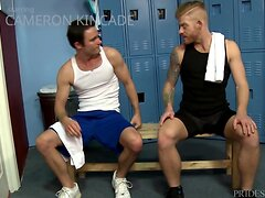 Cameron Kincade Stuffed by his Trainers Cock After Workout